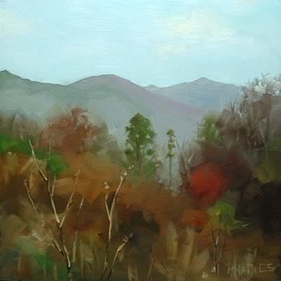 """Mountain Ridge"" original fine art by Michael Naples"