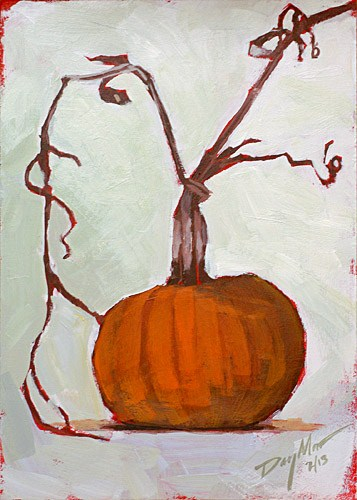 """Pumpkin"" original fine art by Mike Daymon"