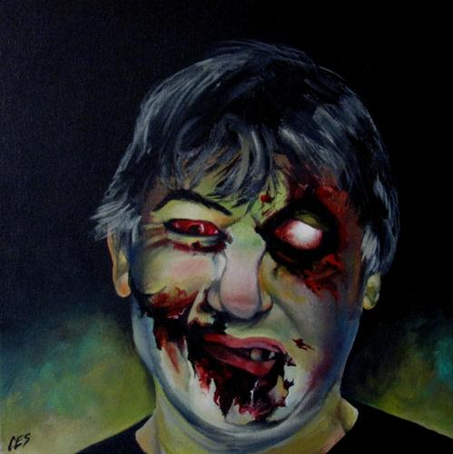 """Custom Zombie Portrait"" original fine art by ~ces~ Christine E. S. Code"