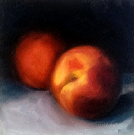 """West Slope Peaches"" original fine art by Cindy Haase"