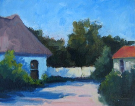 """French Architecture"" original fine art by Connie Snipes"
