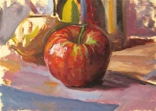 """27- Apple Study"" original fine art by Ed Watson"