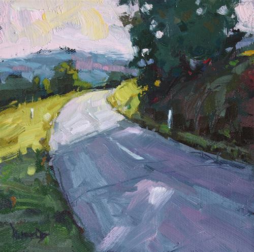 """Just Around the Corner"" original fine art by Cathleen Rehfeld"