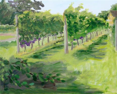 """Vineyard"" original fine art by Priscilla Bohlen"