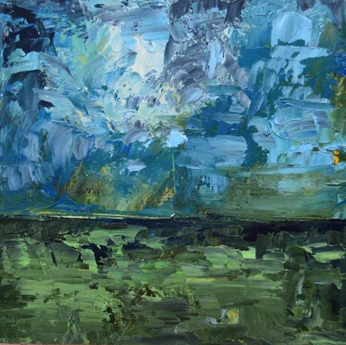 """Oil Landscape Painting No 2"" original fine art by Katie Jeanne Wood"