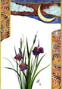 """Iris & Moon"" original fine art by Mariko Irie"
