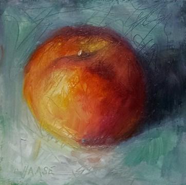 """Crazy Peach"" original fine art by Cindy Haase"
