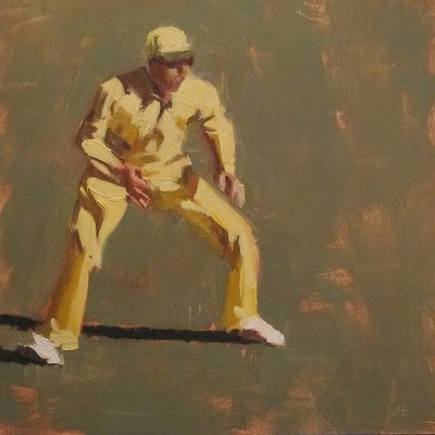 """IN THE FIELD 2 - Cricket at the MCG"" original fine art by Helen Cooper"