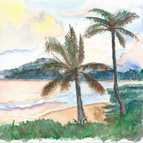 """Hawaiian Beach"" original fine art by Laura Denning"