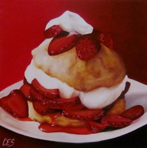 """""""Strawberry Shortcake"""" original fine art by ~ces~ Christine E. S. Code"""