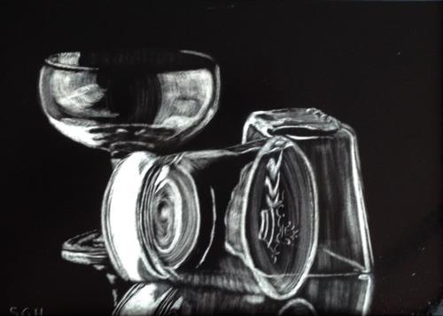 """Cocktails?"" original fine art by Susan Hoffheimer"