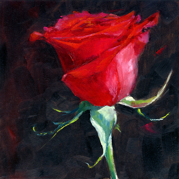 """La Vie en Rose"" original fine art by Brenda Ferguson"