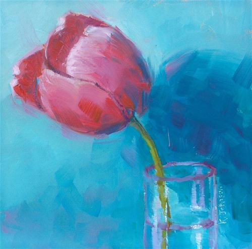 """'Tween Tulip"" original fine art by Kathy Johnson"