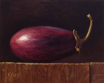 """Eggplant in Morning Light"" original fine art by Abbey Ryan"