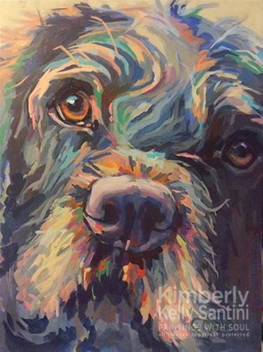 """Ta-Da!! Rory, Finished!!"" original fine art by Kimberly Santini"