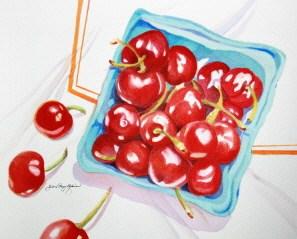 """Andy's Heirloom Cherries"" original fine art by JoAnne Perez Robinson"