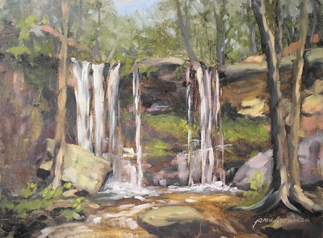 """Autumn at Hidden Falls"" original fine art by Jamie Williams Grossman"