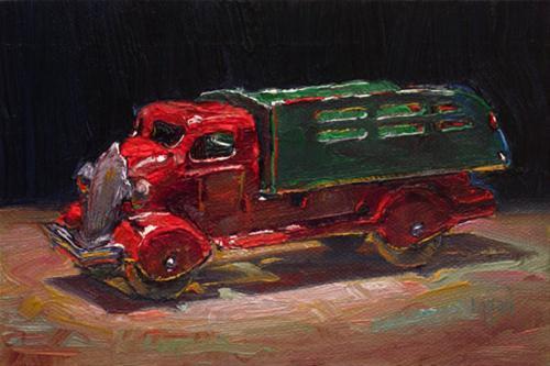"""Tate's Marx Toy Truck"" original fine art by Raymond Logan"