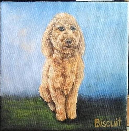 """Biscuit"" original fine art by Camille Morgan"