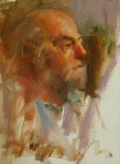 """Study with Carolyn Anderson 3"" original fine art by Qiang Huang"