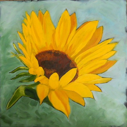"""Sunflower"" original fine art by Claire Henning"