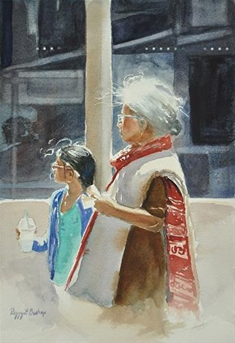 """""""Afternoon with Nani"""" original fine art by Peggy Bishop"""