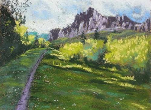 """""""Mill Creek"""" original fine art by Becky Chappell"""