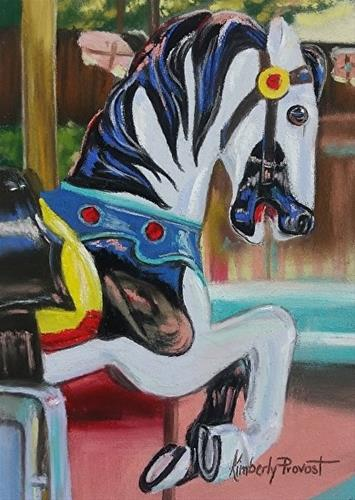 """""""Antique Carousel Horse"""" original fine art by Kimberly Provost"""