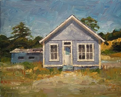 """Blue House"" original fine art by Raymond Logan"