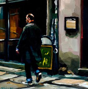 """""""Dublin on my mind"""" original fine art by Edward B. Gordon"""