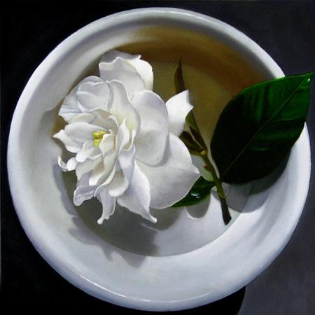 """Gardenia No.2 6x6"" original fine art by M Collier"