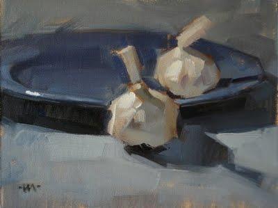"""Blue Plate Special"" original fine art by Carol Marine"