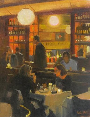 """Coffee and dessert"" original fine art by Kathy Weber"