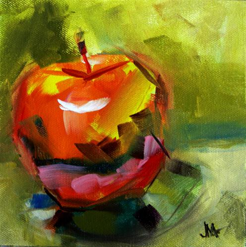 """Apple Tip"" original fine art by - JanettMarie"