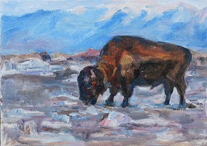 """Home on the Range-Day 2"" original fine art by Carol DeMumbrum"