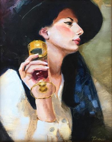 """Socialite"" original fine art by Candace Brancik"