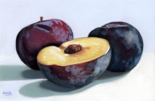 """Black Plums"" original fine art by Ria Hills"
