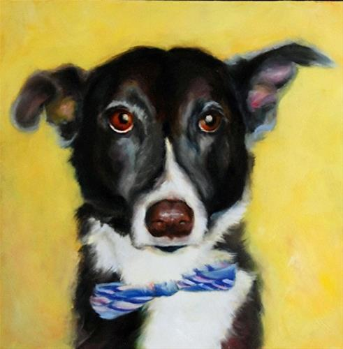 """Jillian's Dog 3"" original fine art by Dorothy McLennan"