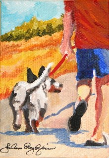 """Walk the Dog"" original fine art by JoAnne Perez Robinson"