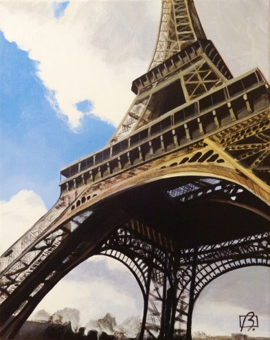 """Eiffel Tower Today"" original fine art by Andre Beaulieu"
