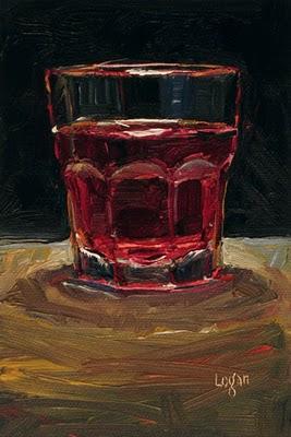 """Cranberry Juice Cocktail"" original fine art by Raymond Logan"