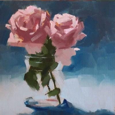 """ROSE ROSES"" original fine art by Helen Cooper"
