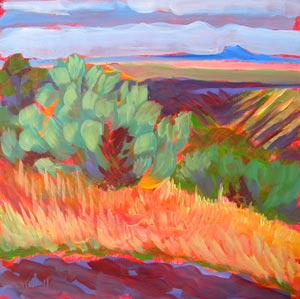 """Canyon Dreams 25"" original fine art by Pam Van Londen"