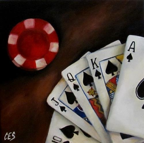 """Royal Flush"" original fine art by ~ces~ Christine E. S. Code"