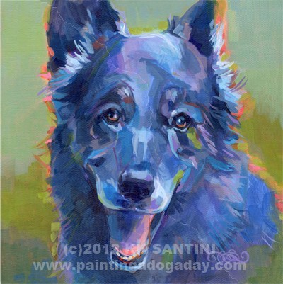 """Patches"" original fine art by Kimberly Santini"