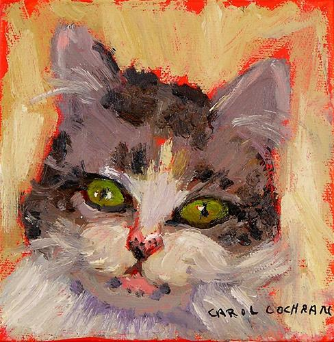 """Sweet Pea"" original fine art by Carol Cochran"