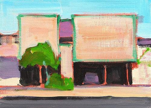 """Dingbat building, LA"" original fine art by Kevin Inman"