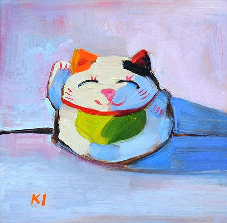 """Maneki Neko"" original fine art by Kevin Inman"