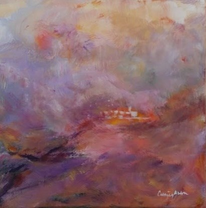 """City on a Hill"" original fine art by Cathy Dykstra"