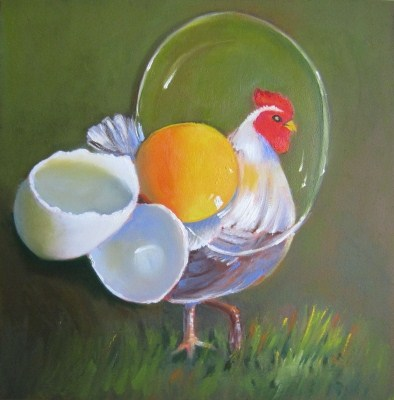 """Hen E. Youngman, Oil Painting by Linda McCoy"" original fine art by Linda McCoy"